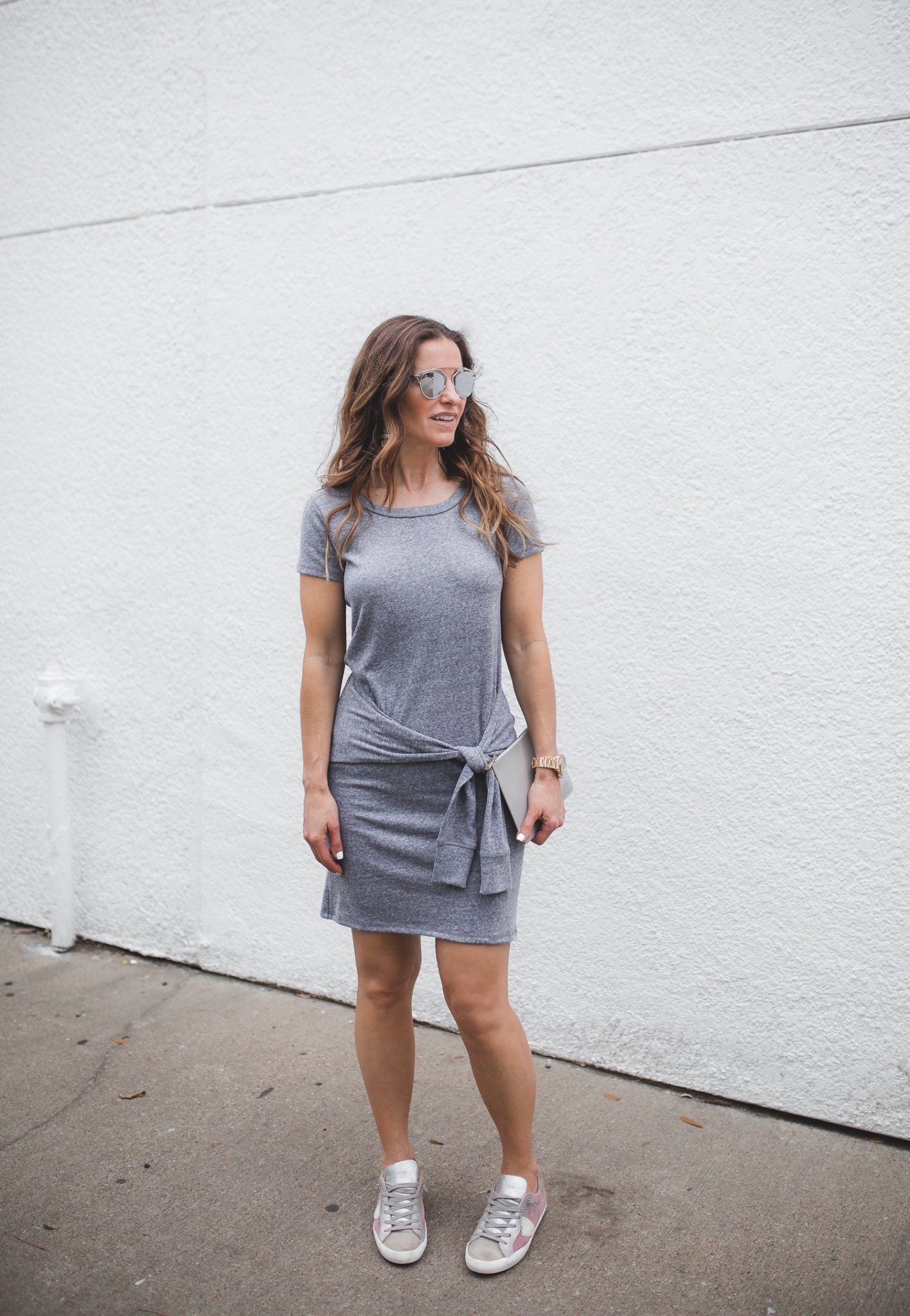 Casual Living Magazine : Nation tie front tee shirt dress